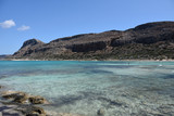 Balos lagoon beach in Crete, Greece