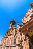 View on the Minster Cathedral in Freiburg im Breisgau, Germany on a sunny day. - 221974596