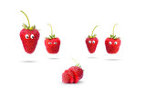 strawberries isolated on white background - 221980586