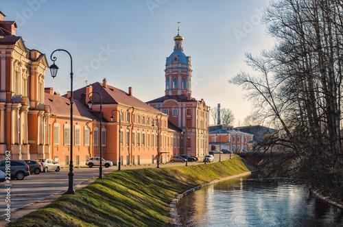North-West (Riznichnaya) tower of the Alexander Nevsky lavra.