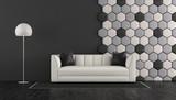 Black and white living room - 221984187