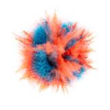 Coloured powder explosion isolated on white background - 221984505