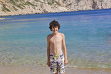 Happy teen is at the beach,Chios Island - 221985357