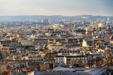 View of the skyline of Paris from the Arc de Triomphe in the afternoon in Paris, France - 221993561