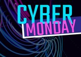 Cyber Monday Sale colored in neon - 221997387