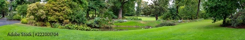 Panoramic view of garden of plants in Nantes France - 222001704