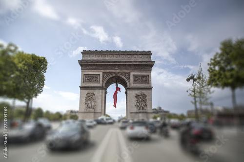 Fridge magnet triumphal arch on the Champs Elysées