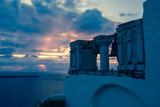 The village of Oia in Santorini, Greece. Toned photo of architecture - 222007110