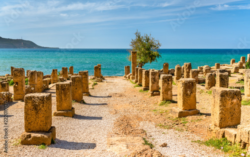 Ruins of Tipasa, a Roman colonia in Algeria, North Africa