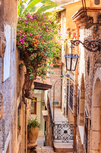 Fototapeta Street of Taormina city