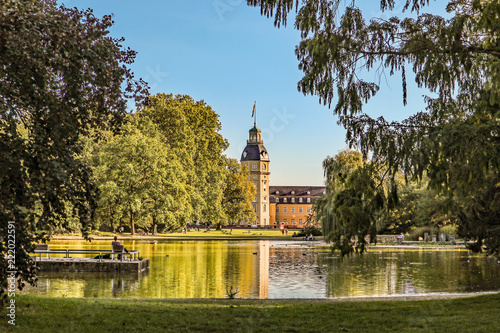 canvas print picture Schlossgarten Karlsruhe