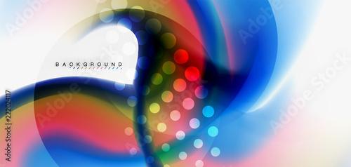 Color flowing wave, trendy liquid design template © antishock