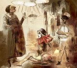 Commedia dell' arte - An hand painted illustration - 222026542