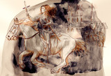 Joan of Arc - An hand painted illustration - 222026569