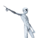 3d rendered illustration of a humanoid alien - 222029912
