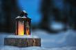 Leinwanddruck Bild - Candle lantern
