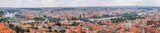 Top Panoramical View of the historical districts of Prague