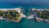 Glarokavos beach in Kassandra peninsula. Halkidiki, Greece - 222036167