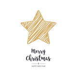 christmas star card scribble drawing greeting isolated background - 222041706