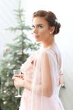 Woman in pink dress - 222049584