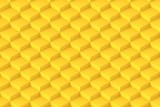 Yellow Square Abstract Background. Cube Background. 3D Render Background - 222051155