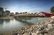 Peace Bridge over the Bow Rover in Calgary Alberta Canada