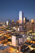 Downtown scenic skyline cityscape at night of Dallas Texas USA