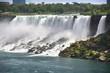 Fresh water flows over the American Falls in Niagara Falls, Ontario, Canada