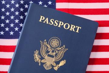 Passport and Flag