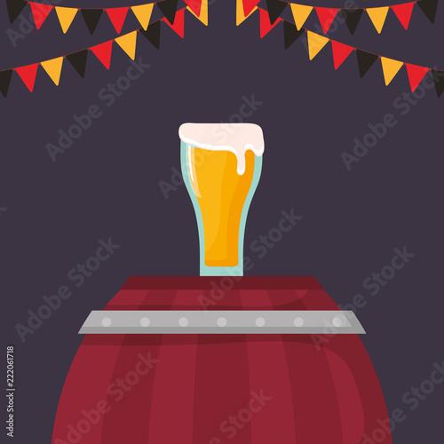 Sticker beer glass beverage icon