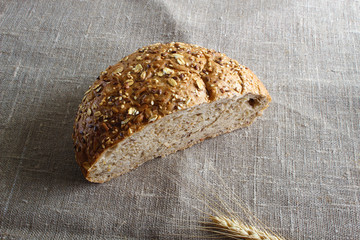 multi-grain bread and ears