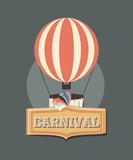carnival hot air balloon recreation retro - 222067125