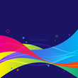 Abstract colorful gradient geometric shape background - 222067519