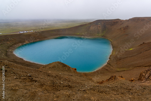 Volcano Viti Crater in North Iceland