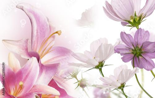 beautiful flowers card