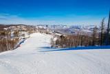 ski slope in winter