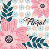 delicate flower leaves floral background