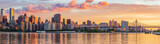 View to Manhattan skyline from the Long Island City at sunrise © elena_suvorova