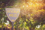 Beverly Hills sign in a sunset light - 222097301