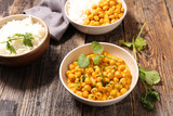 chickpea with cream and curry - 222097770