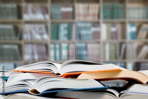 Books collection  isolated on  background.