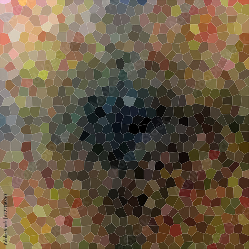 Beautiful abstract illustration of brown, red and blue small hexagon with bright colors paint. Lovely background for your prints.