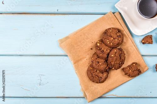 Leinwanddruck Bild chocolate chip cookies