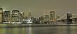 Manhattan e ponte di Brooklin di sera - 222123391