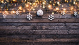 Christmas rustic background with wooden planks - 222126932
