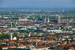 Leinwandbild Motiv Aerial view of Munich. Munich, Bavaria, Germany