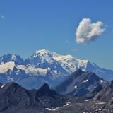 Mont Blanc. View from Diablerets Glacier. Glacier 3000, Switzerland.