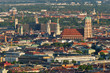 Leinwanddruck Bild - Aerial view of Munich. Munich, Bavaria, Germany