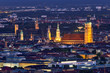 Leinwanddruck Bild - Night aerial view of Munich, Germany
