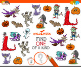 one of a kind game with Halloween characters - 222143177